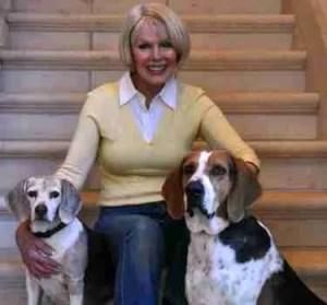 Pat Becker, Minnie & Dixie.