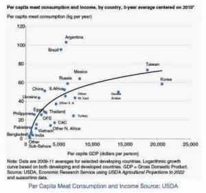 Per capita meat