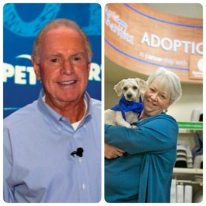PetSmart founders Jim & Janice Daugherty. (PetSmart photos)