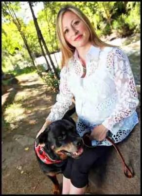 Jennifer Emmi Edwards and rottweiler