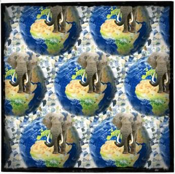 Elephants in globe