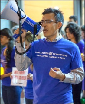 Direct Action Everywhere founder Wayne Hsiun
