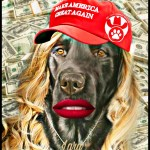 Lara Trump as dog at Big Dog Ranch Rescue