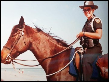 Beth Clifton, mounted cop