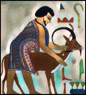 Goat in ancient Egypt.