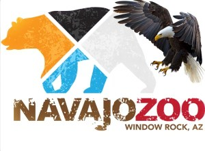 Navajo zoo poster with bald eagle
