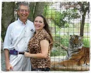 Howard & Carole Baskin with a tiger