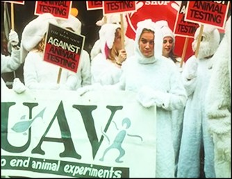 The Against Animal Testing campaign 1996