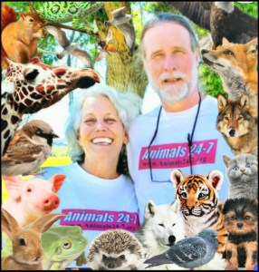 Merritt and Beth with animals