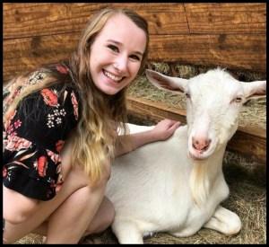 Lindsay Vanderhoogt with goat