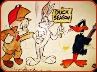 Elmer Fudd & Daffy Duck