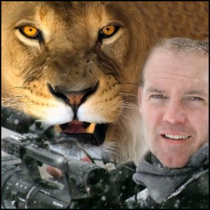director Michael Webber with lion