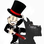 Monopoly guy and dog