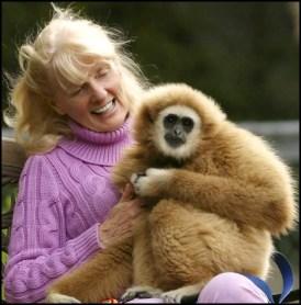 Shirley McGreal & gibbon