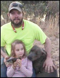 Nic Coker with his pit bull & unidentified child (not involved in the 2020 shootings) in December 2016.