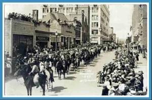 Calgary Stampede parade, 1923.