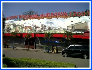 Surabaya Zoo entrance. (Facebook photo)