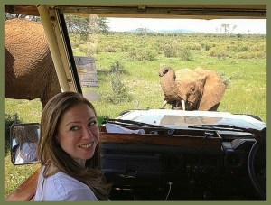 Chelsea Clinton with elephant. (Save The Elephants photo)