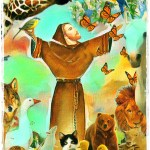 Saint Francis of Assisi with animals