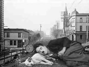The original Skid Row: Yesler Street, Seattle. (Merritt Clifton collage)