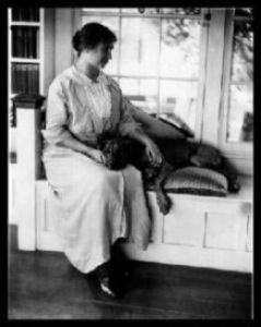 """Helen Keller's companion pit bull was practically the only """"service"""" pit bull on record until recent years."""