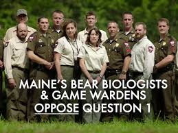 Maine state agencies took an active role in opposing the anti-bear baiting,  hounding,  and trapping initiative.