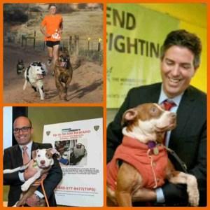 Clockwise: Best Friends Animal Society president Gregory Castle, HSUS president Wayne Pacelle, and ASPCA president Matthew Bershadker.