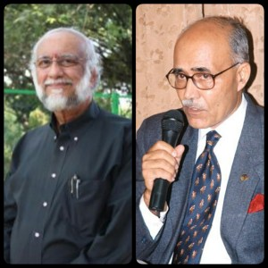 Chinny Krishna (left) and R.M. Kharb (right.)