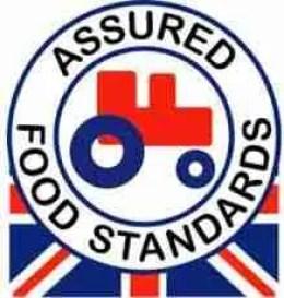 "Original RSPCA ""Red Tractor"" logo."