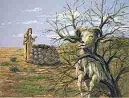 Abraham,  Isaac,  and the ram.  (GardenofPraise.com)
