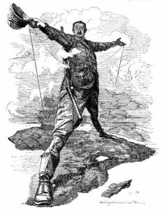Cecil Rhodes, as drawn by Edward Linley Sanbourne for Punch in 1895.