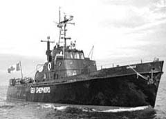 The Sirenian was flagship for the Sea Shepherd campaign against Makah whaling.