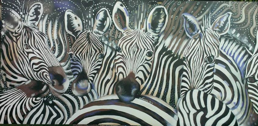 EK art zebras | ANIMAL VOGUE