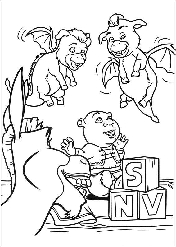 Coloring Pages Shrek: Animated Images, Gifs, Pictures