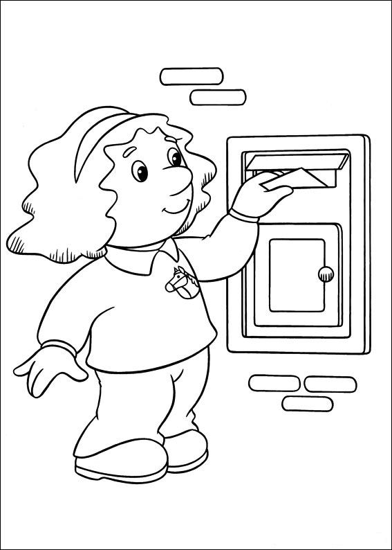 Coloring Pages Postman Pat: Animated Images, Gifs