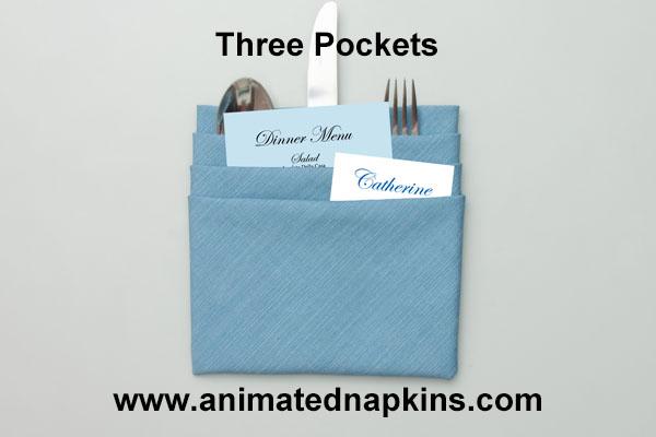 three pocket napkin how