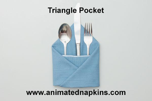 triangle napkin pocket how