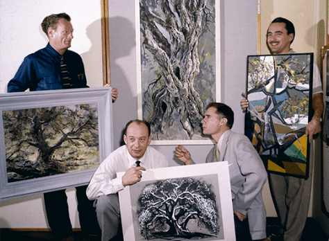 4 Artists Paint 1 Tree
