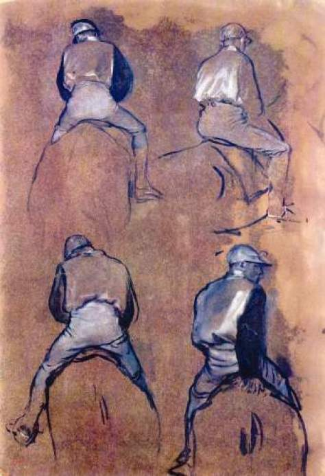 Degas - Four studies of Jockeys