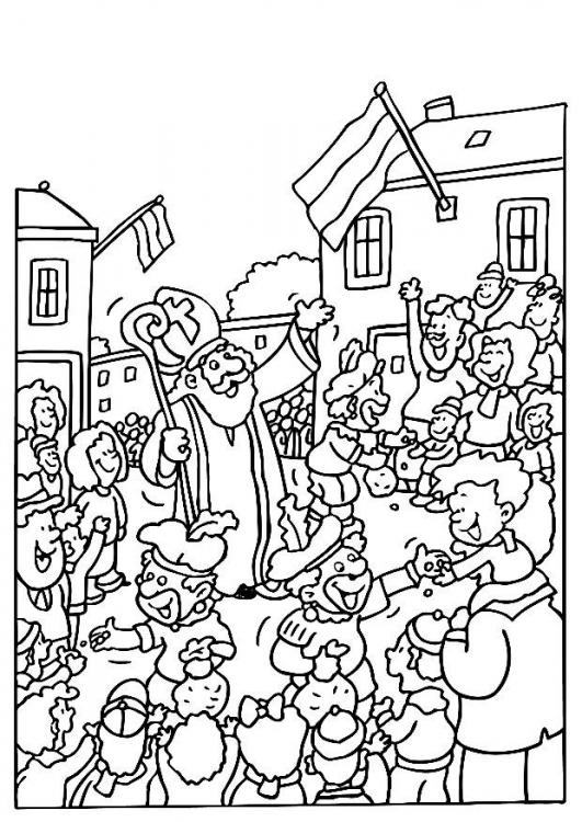 1000+ images about Kleurplaten Sinterklaas. on Pinterest