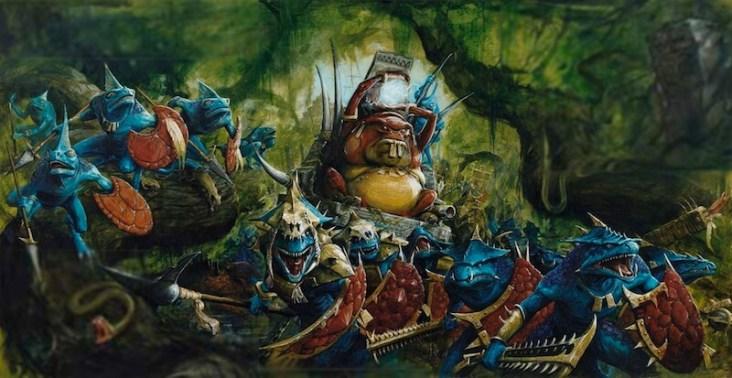 Animation Figurines Decors - Hommes- lézards Warhammer
