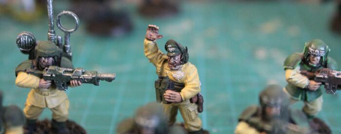 soldats cadiens warhammer 28mm