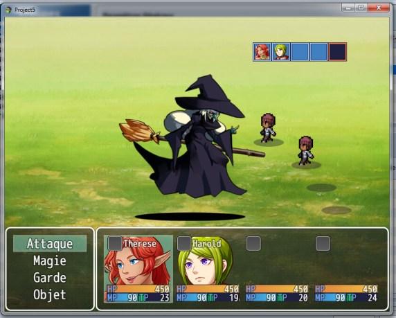 L'animation d'un personnage (sorciere) avec DragonBones permet de donner plus de mouvement à vos personnages.