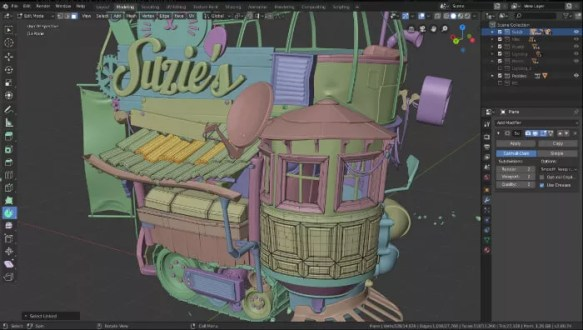 Interface graphique de Blender