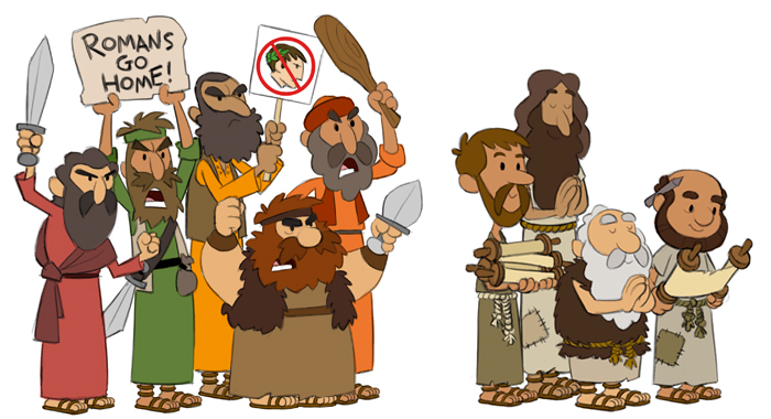 Character Design History : Character designs of zealots and essenes animation insider