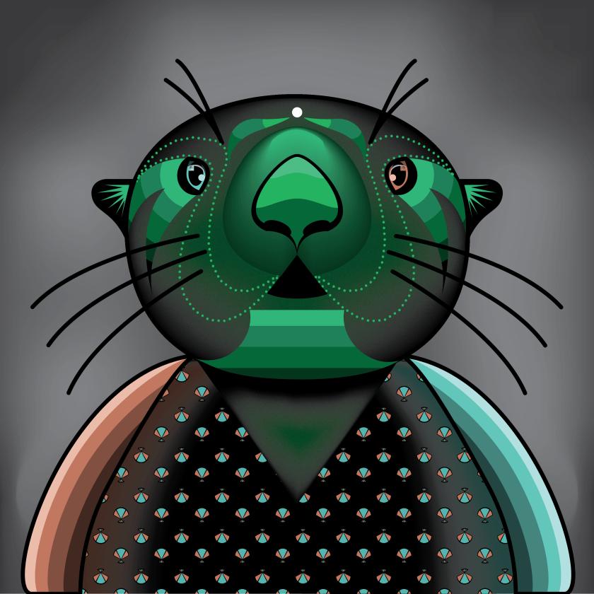 Bryce Williams Otter Illustration