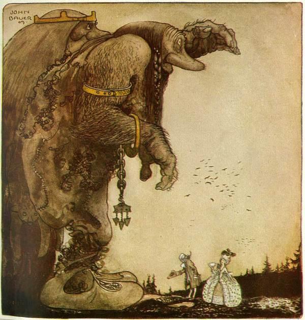 Illustration John Bauer' Bland Tomtar Och Troll