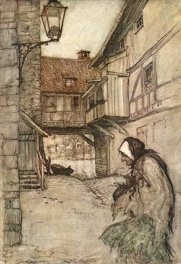 Illustration Arthur Rackham' Grimm' Fairy Tales - Serving Online