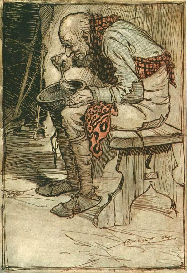 Illustration Arthur Rackham' Grimm' Fairy Tales