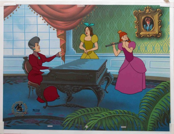 Walt Disney Cinderella Limited Edition Cel Music Lesson